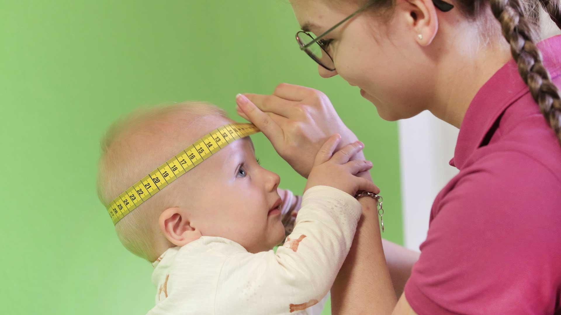 Kopf messen Baby
